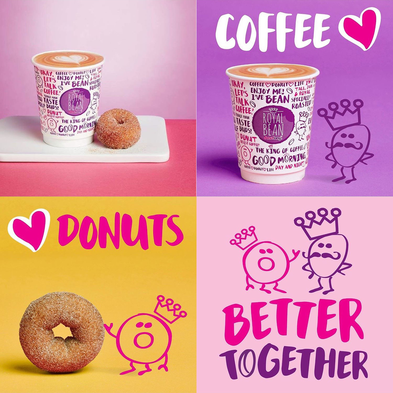 Mix Brush on Donut King's Ads and Coffee Cups