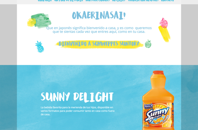 Mix Brush on Schweppes Suntory Website