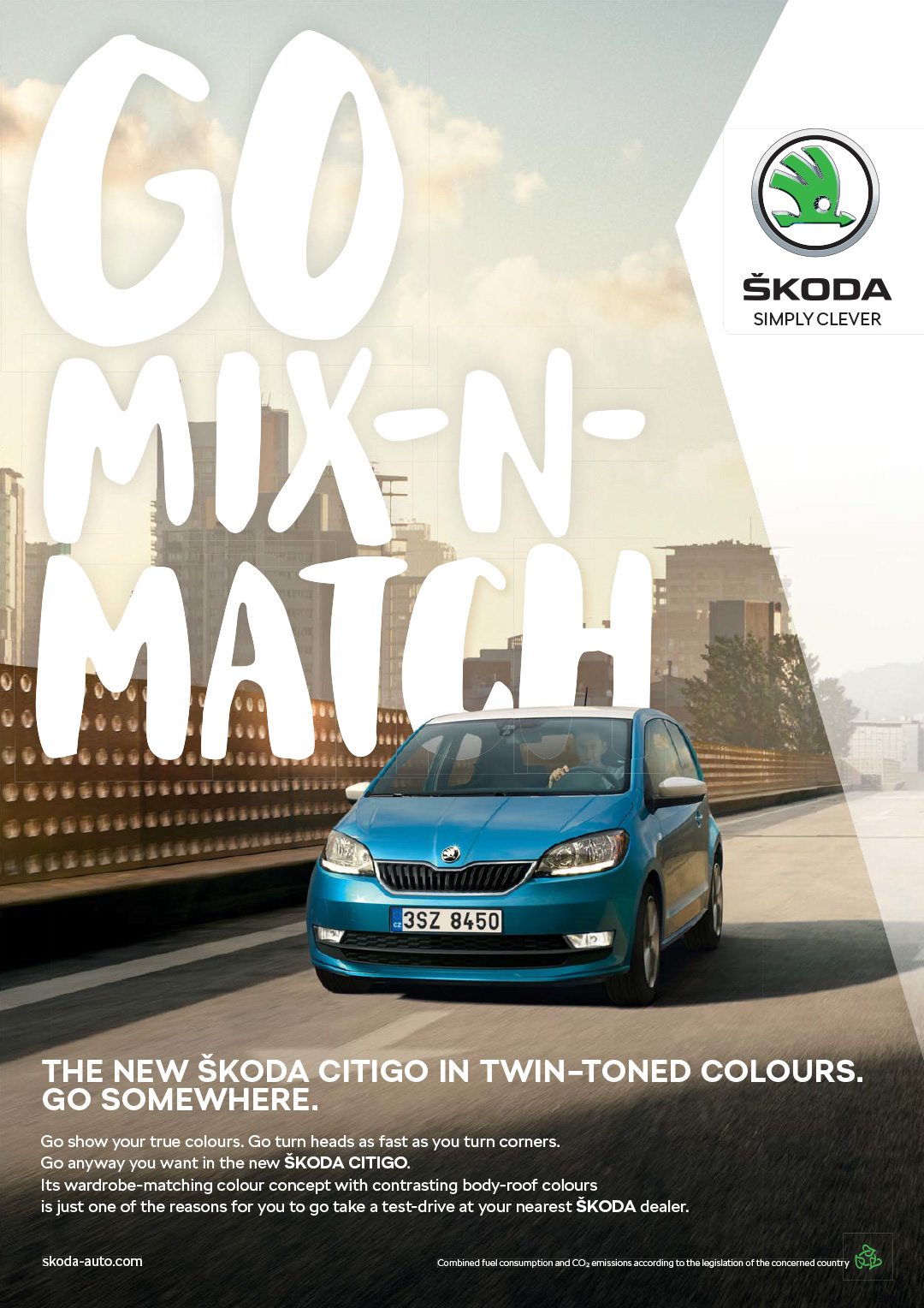 Mix Brush on Škoda Citigo advertising by Fallon Prague