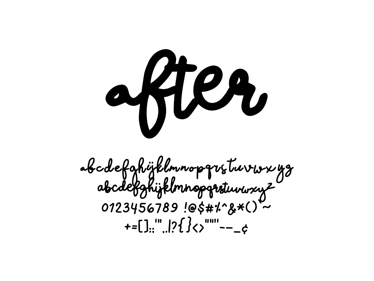 Mix After - Handwritten Fonts by Mikko Sumulong