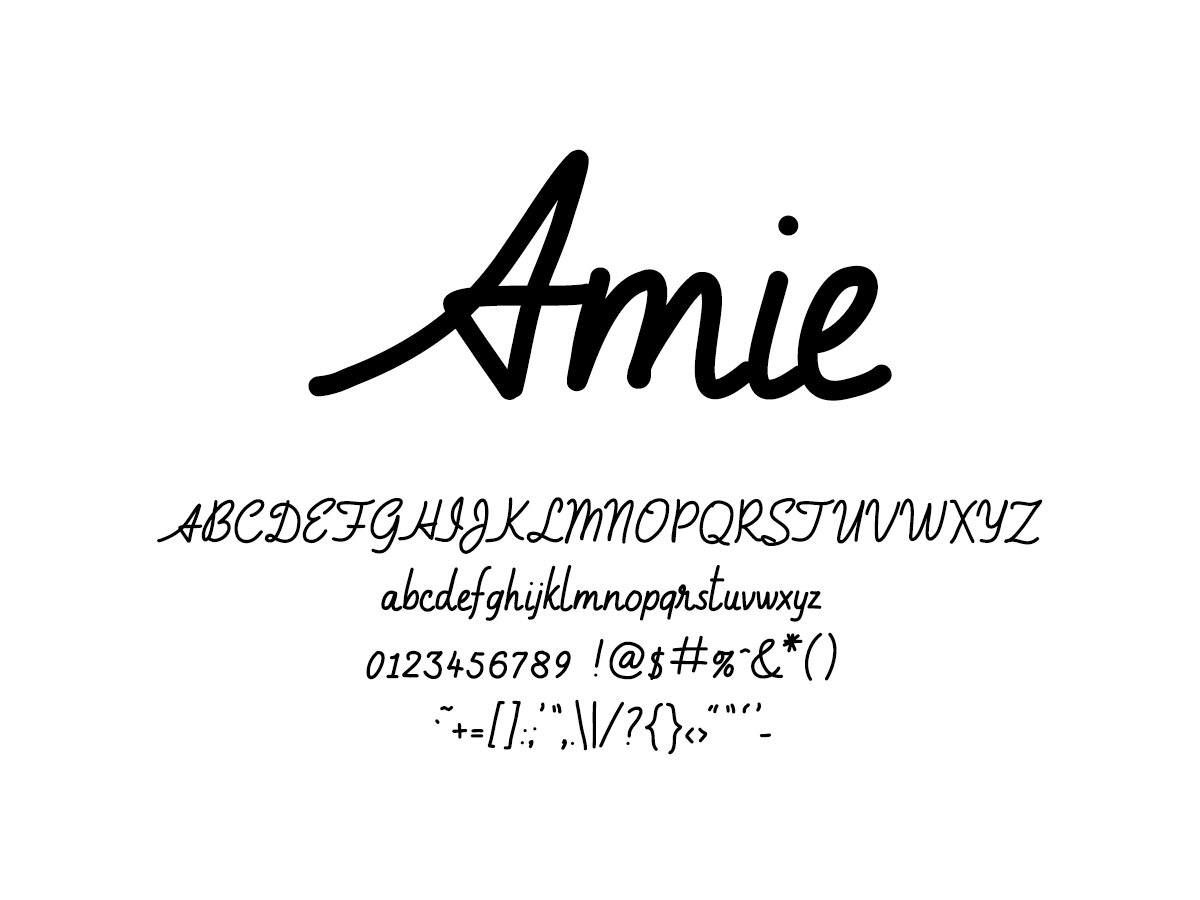 Mix Amie - Handwritten Fonts by Mikko Sumulong