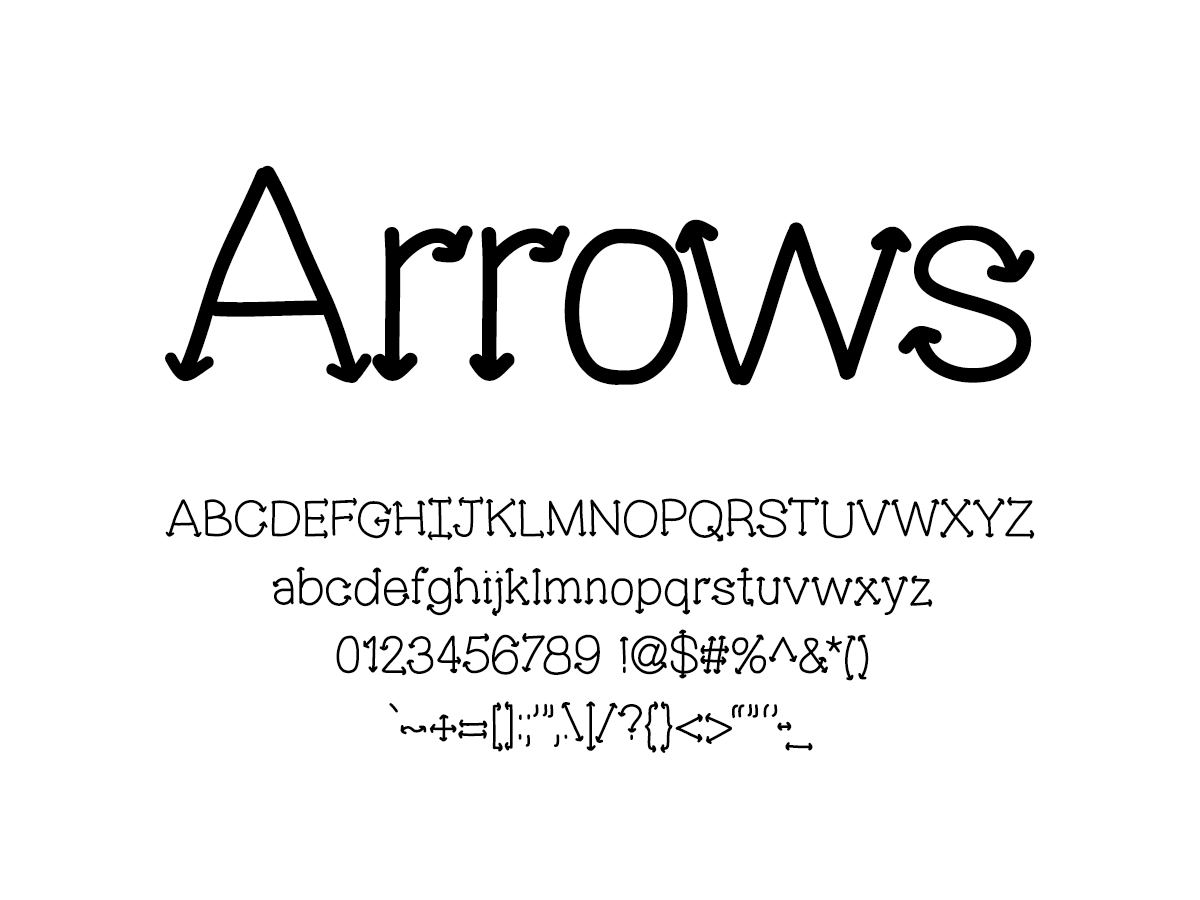 Mix Arrows - Handwritten Fonts by Mikko Sumulong