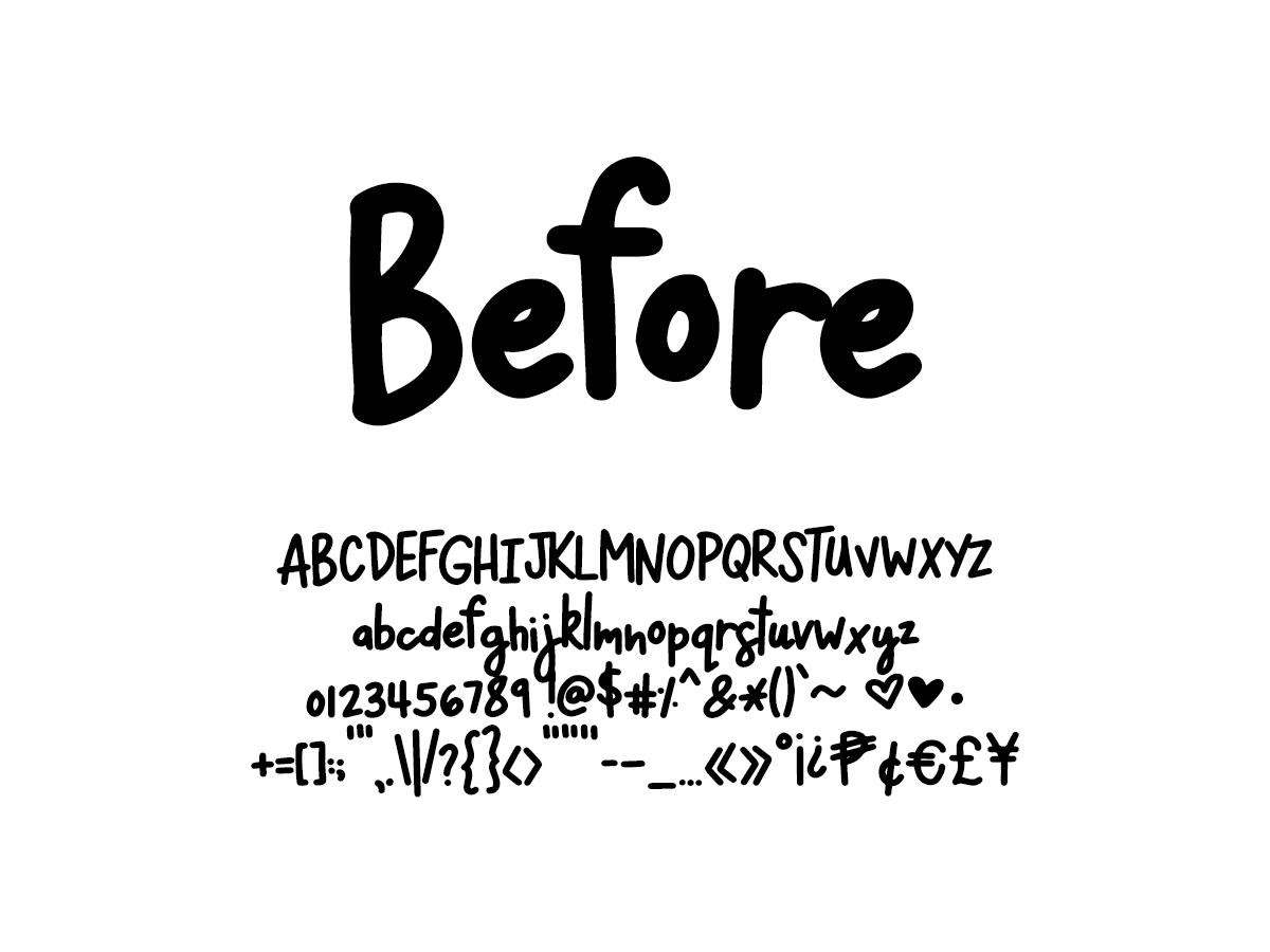 Mix Before - Handwritten Fonts by Mikko Sumulong