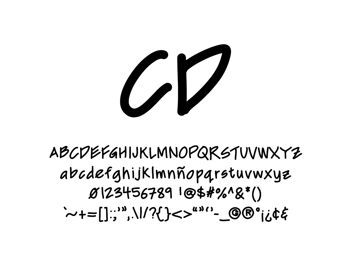 Mix CD - Handwritten Fonts by Mikko Sumulong