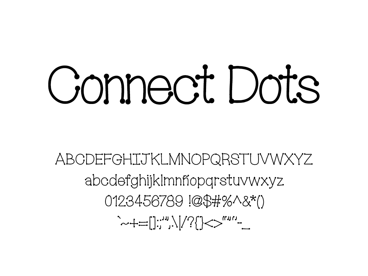Mix Connect Dots - Handwritten Fonts by Mikko Sumulong