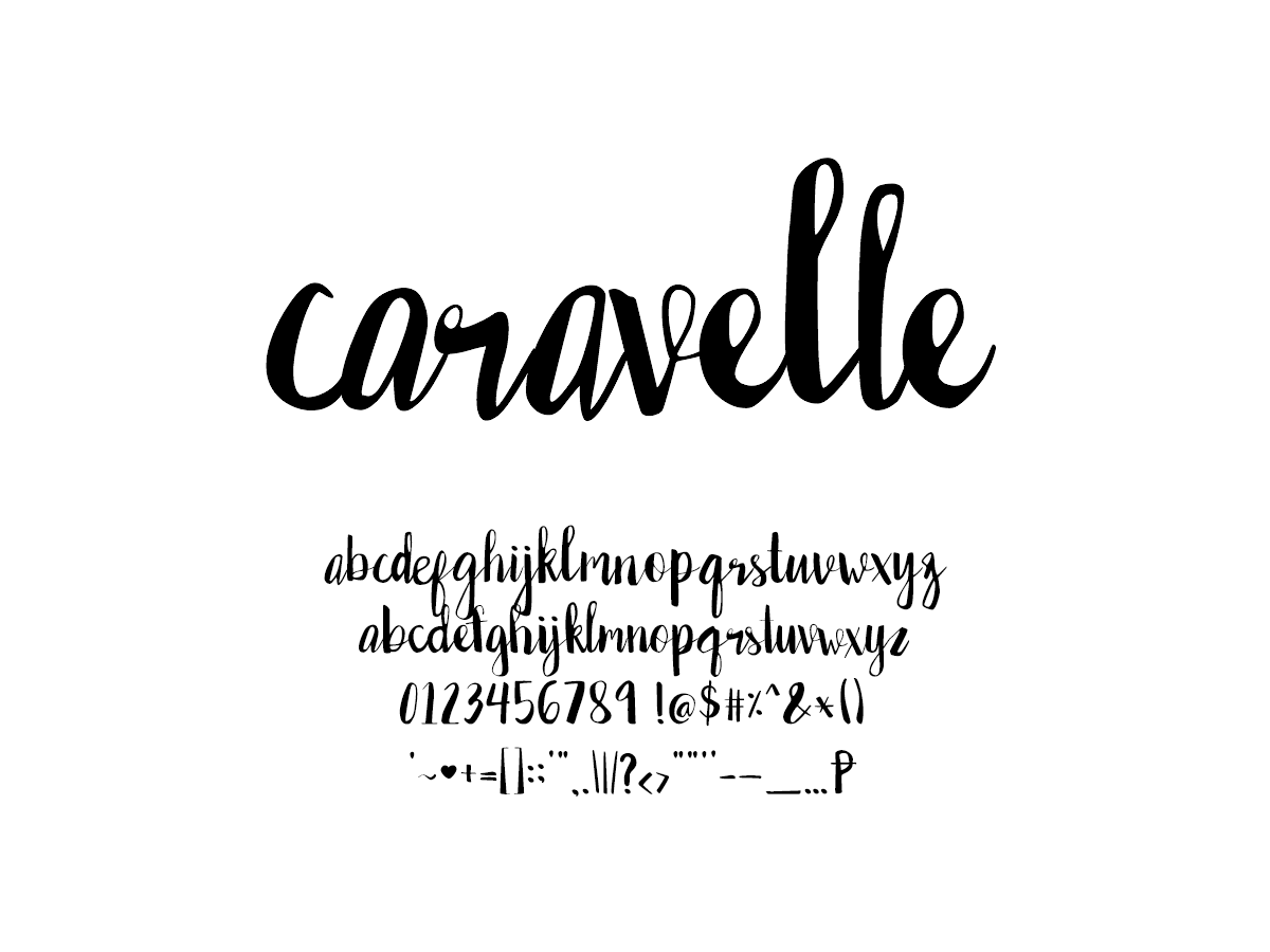 Mix Caravelle - Handwritten Fonts by Mikko Sumulong