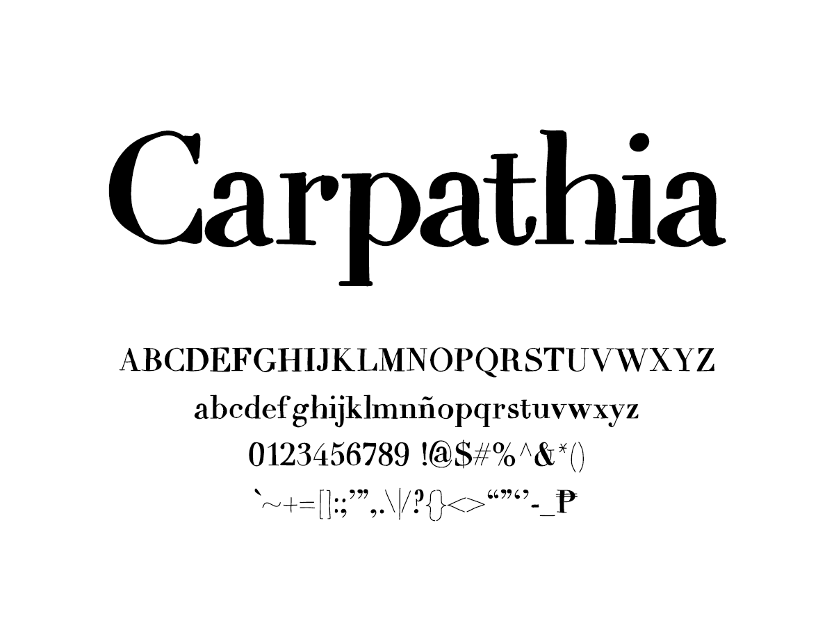 Mix Carpathia - Handwritten Fonts by Mikko Sumulong
