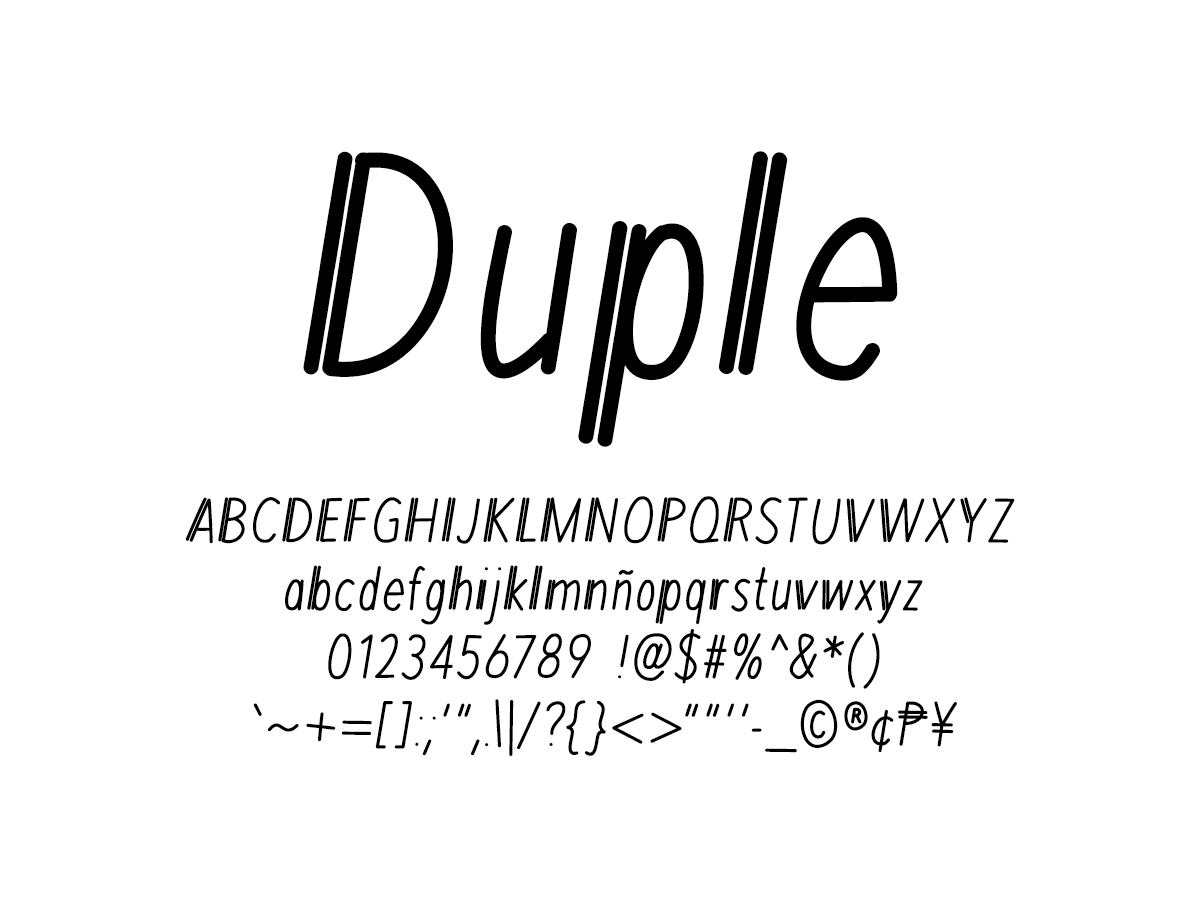 Mix Duple - Handwritten Fonts by Mikko Sumulong