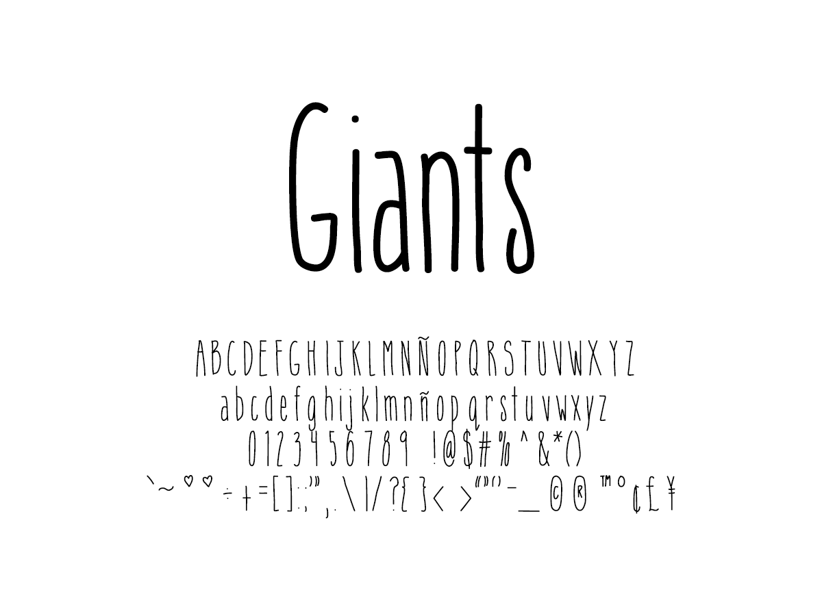 Mix Giants - Handwritten Fonts by Mikko Sumulong