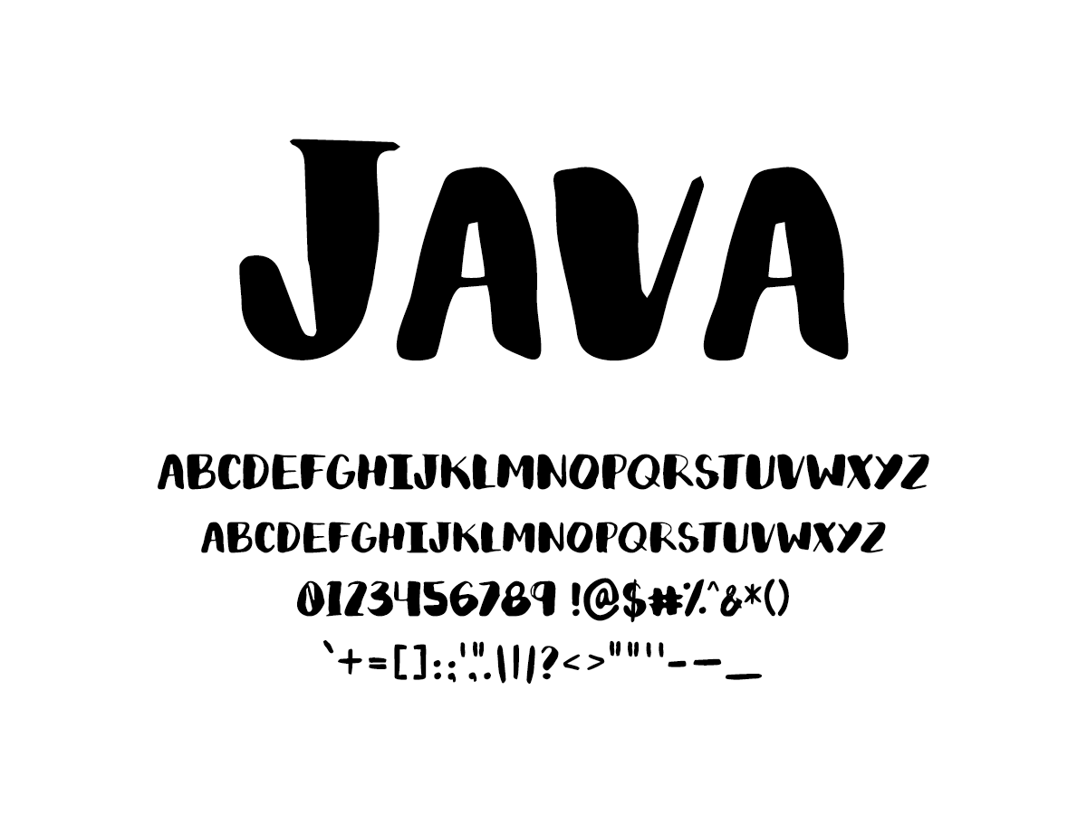 Mix Java - Handwritten Fonts by Mikko Sumulong