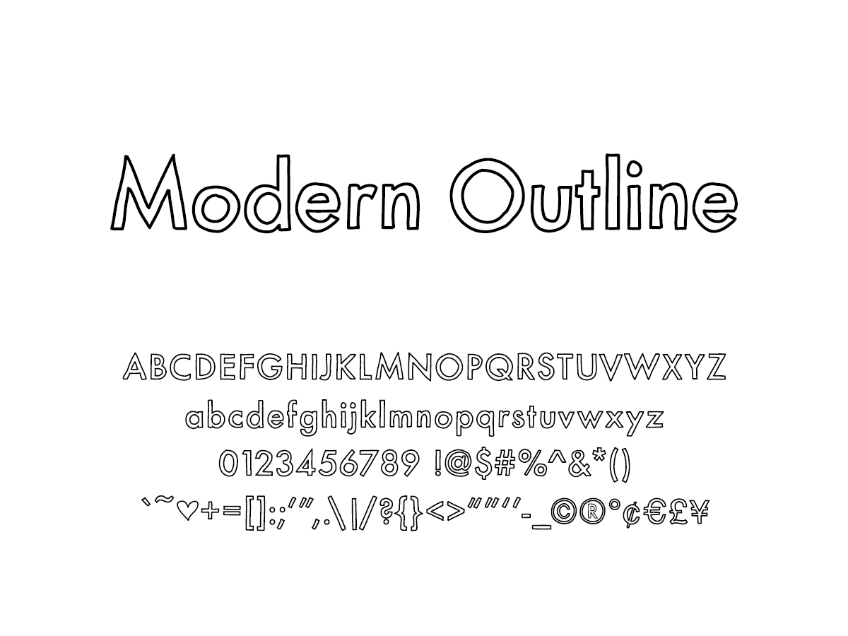 Mix Modern Outline - Handwritten Fonts by Mikko Sumulong