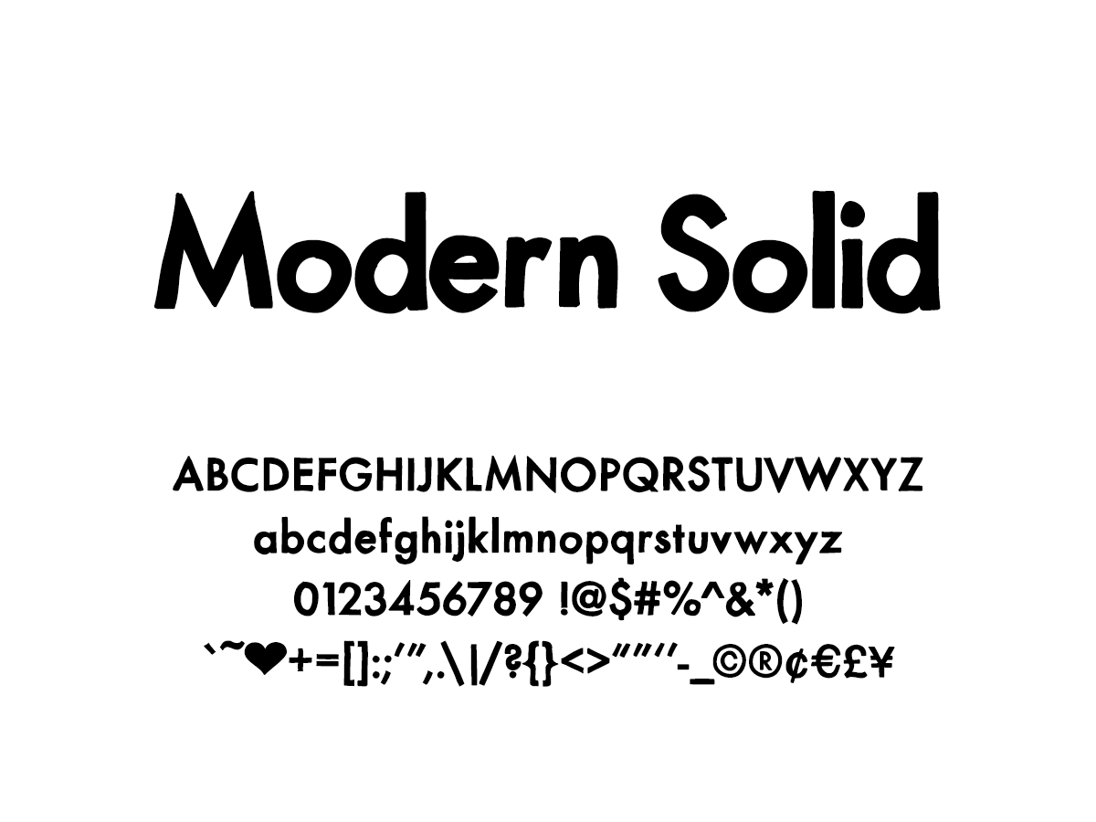 Mix Modern Solid - Handwritten Fonts by Mikko Sumulong