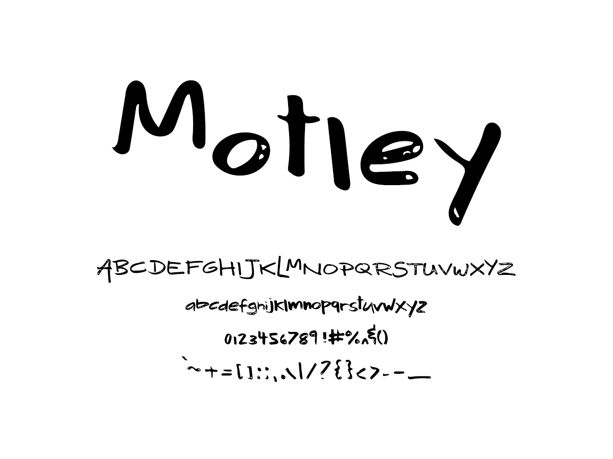 Mix Motley - Handwritten Fonts by Mikko Sumulong