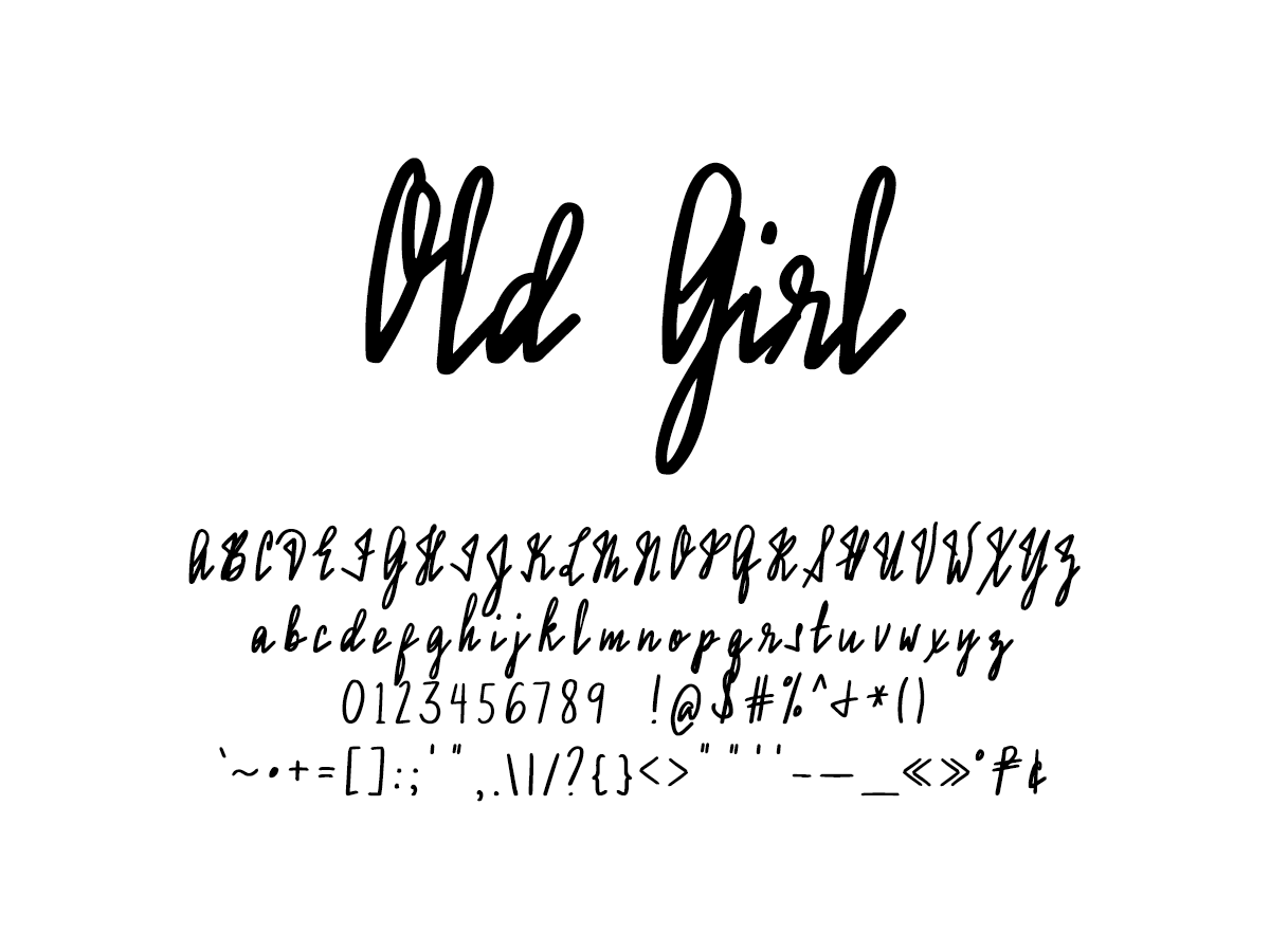 Mix Old Girl–Assumption Handwriting turned into a Font - Handwritten Fonts by Mikko Sumulong