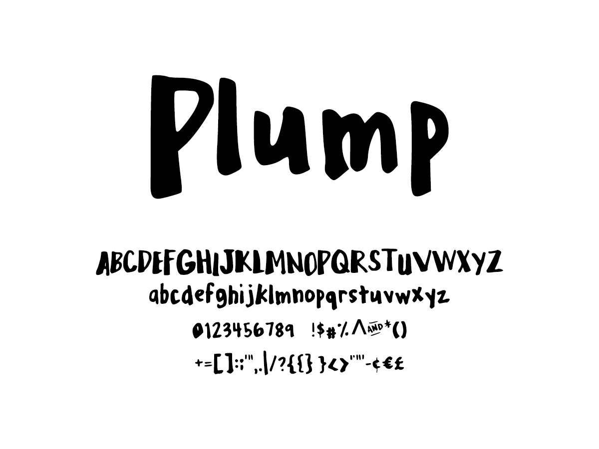 Mix Plump - Handwritten Fonts by Mikko Sumulong