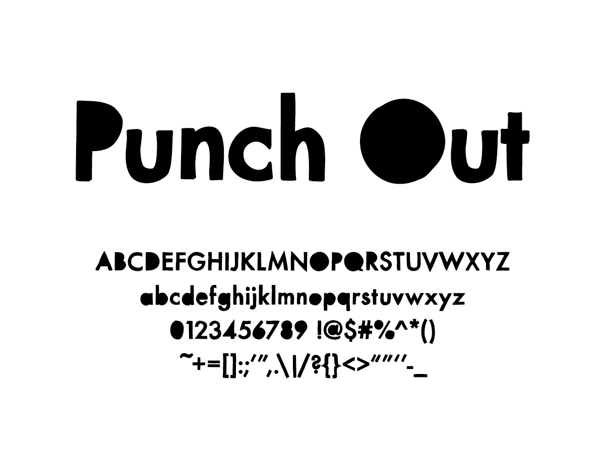 Mix Punch Out - Handwritten Fonts by Mikko Sumulong