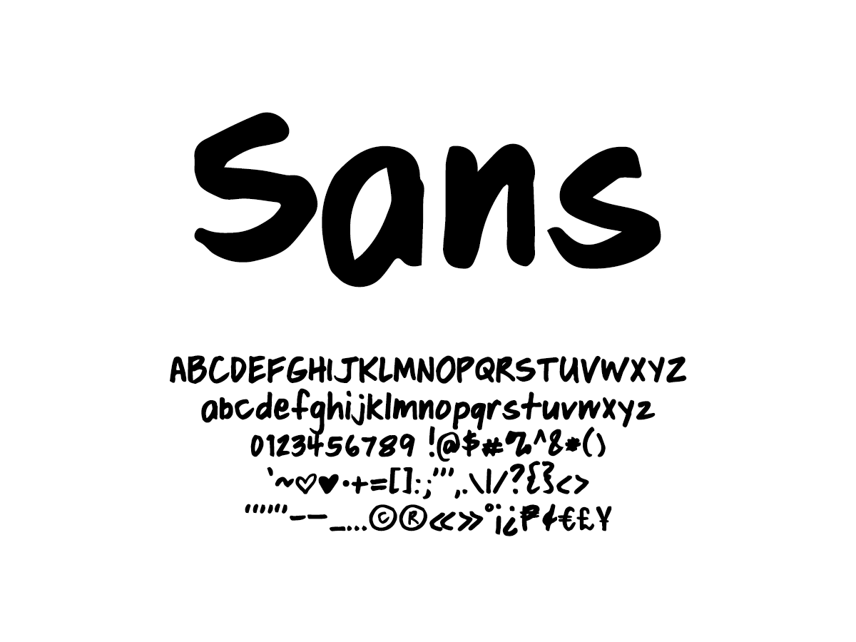 Mix Sans - Handwritten Fonts by Mikko Sumulong