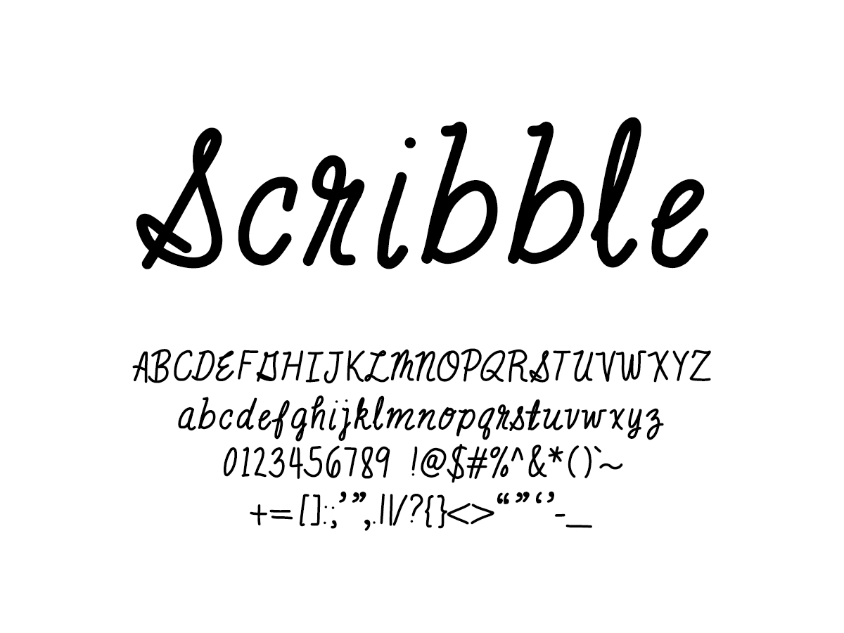 Mix Scribble - Handwritten Fonts by Mikko Sumulong