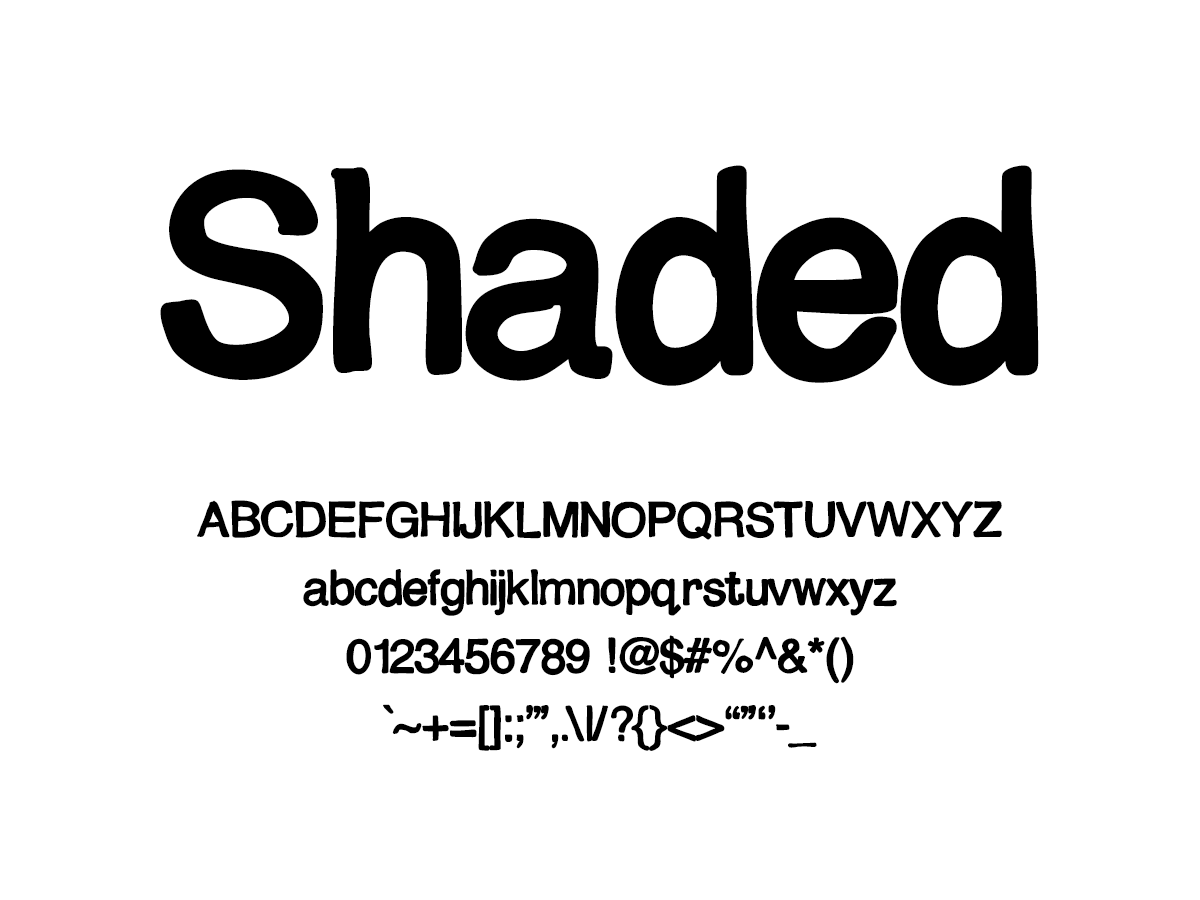 Mix Shaded - Handwritten Fonts by Mikko Sumulong