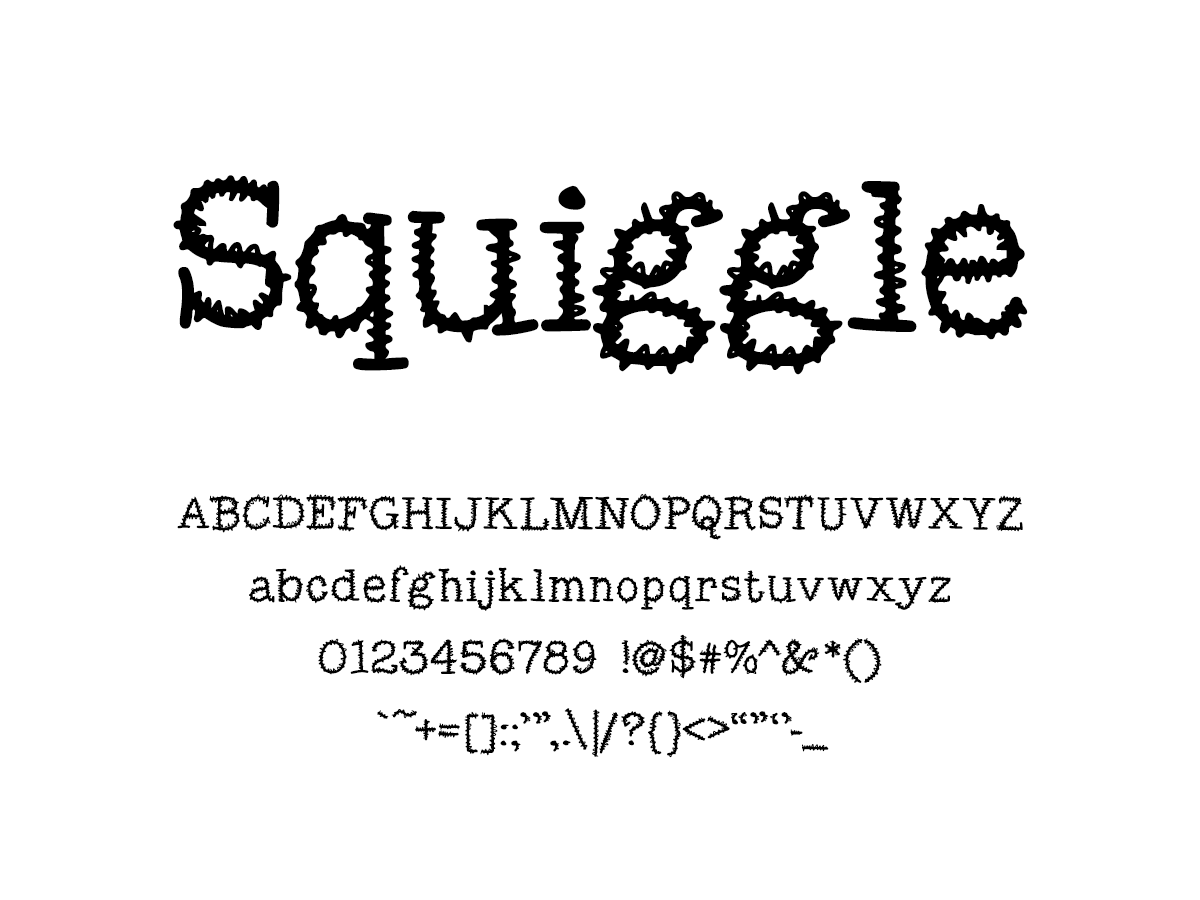 Mix Squiggle - Handwritten Fonts by Mikko Sumulong