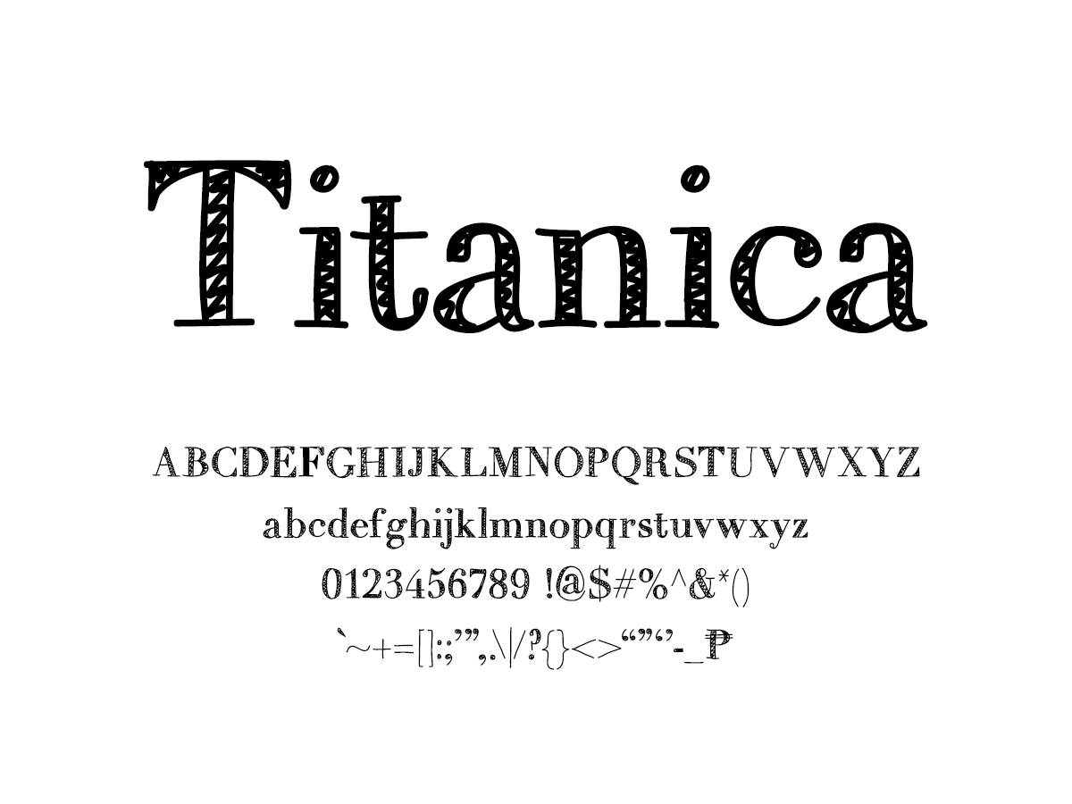 Mix Titanica - Handwritten Fonts by Mikko Sumulong