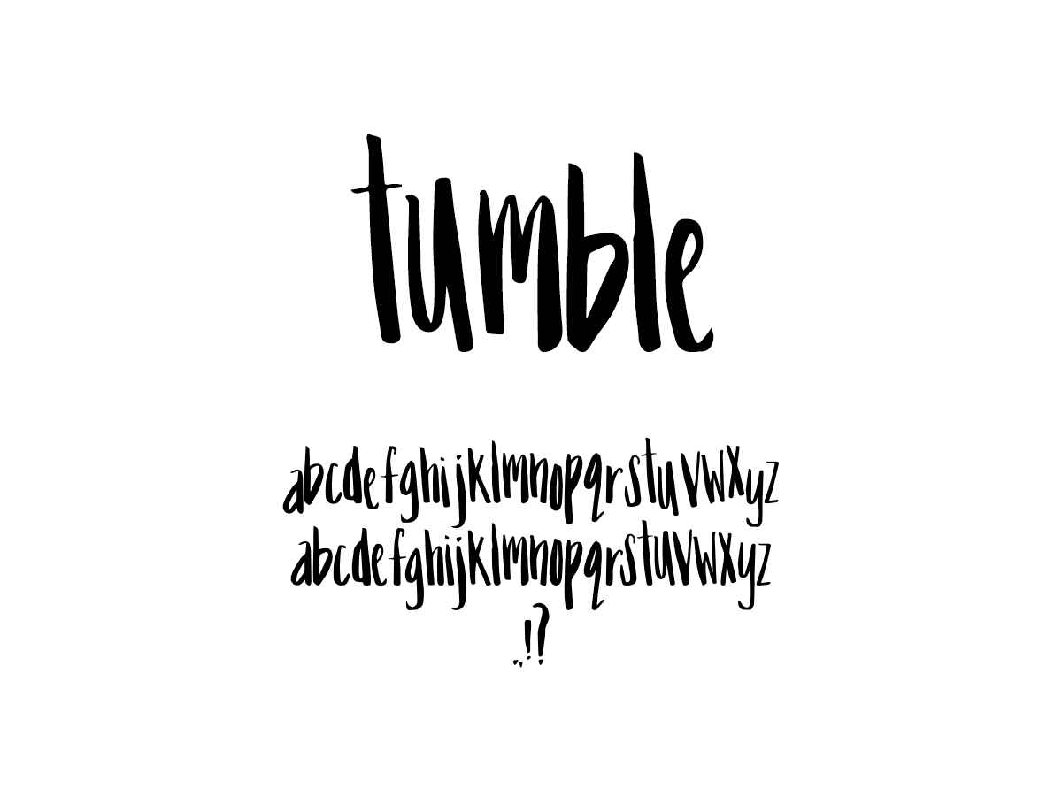 Mix Tumble - Handwritten Fonts by Mikko Sumulong