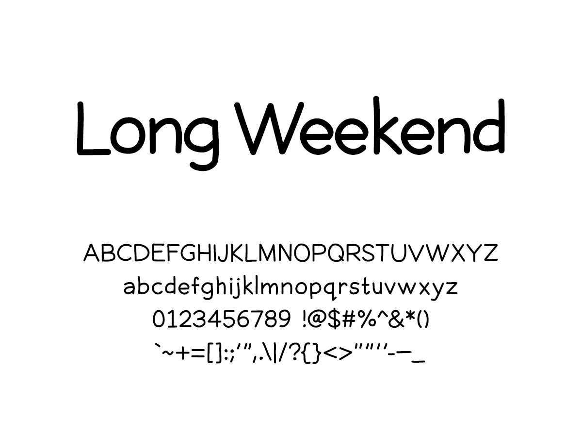 Mix Long Weekend - Handwritten Fonts by Mikko Sumulong