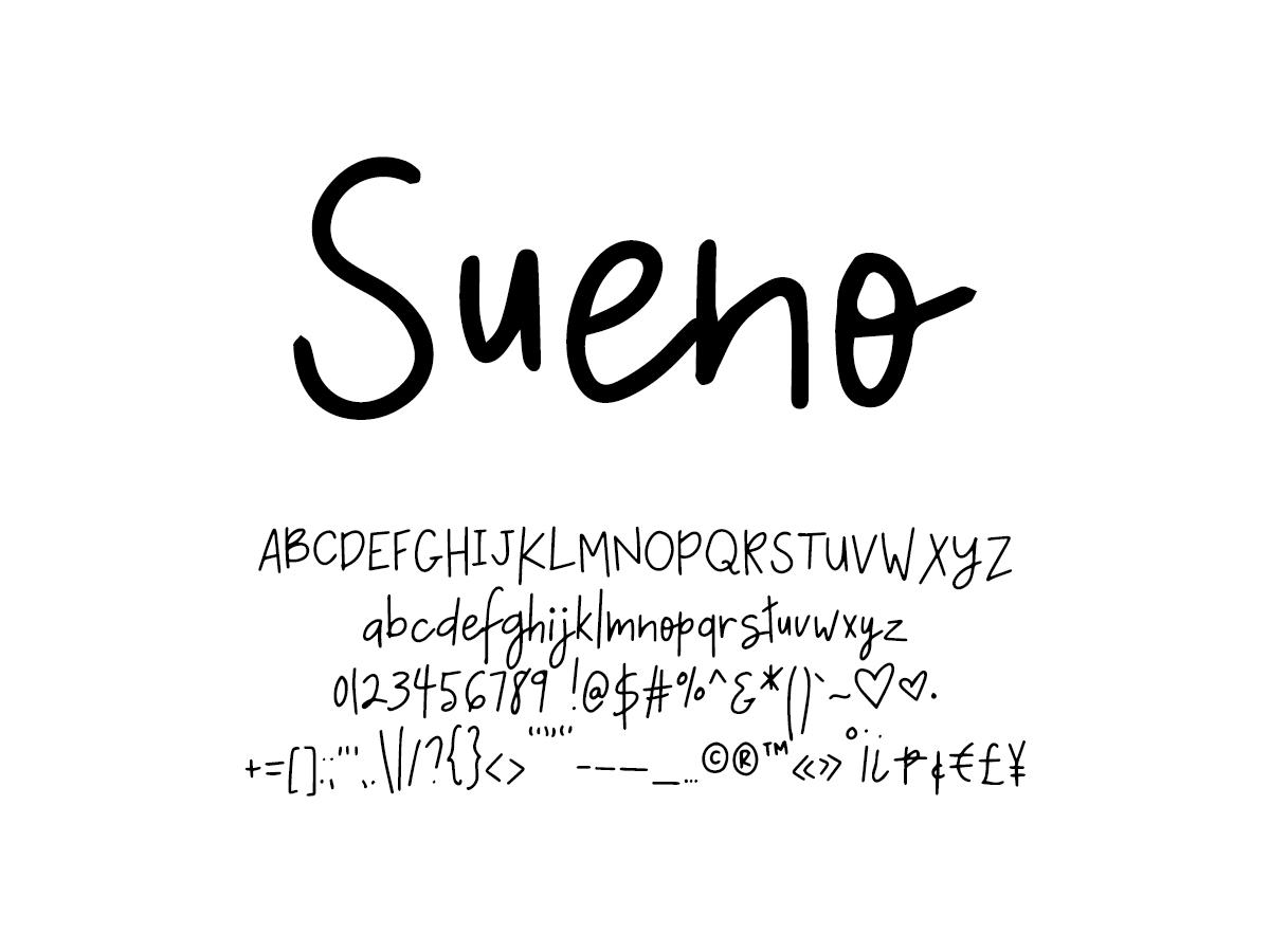 Mix Sueno - Handwritten Fonts by Mikko Sumulong