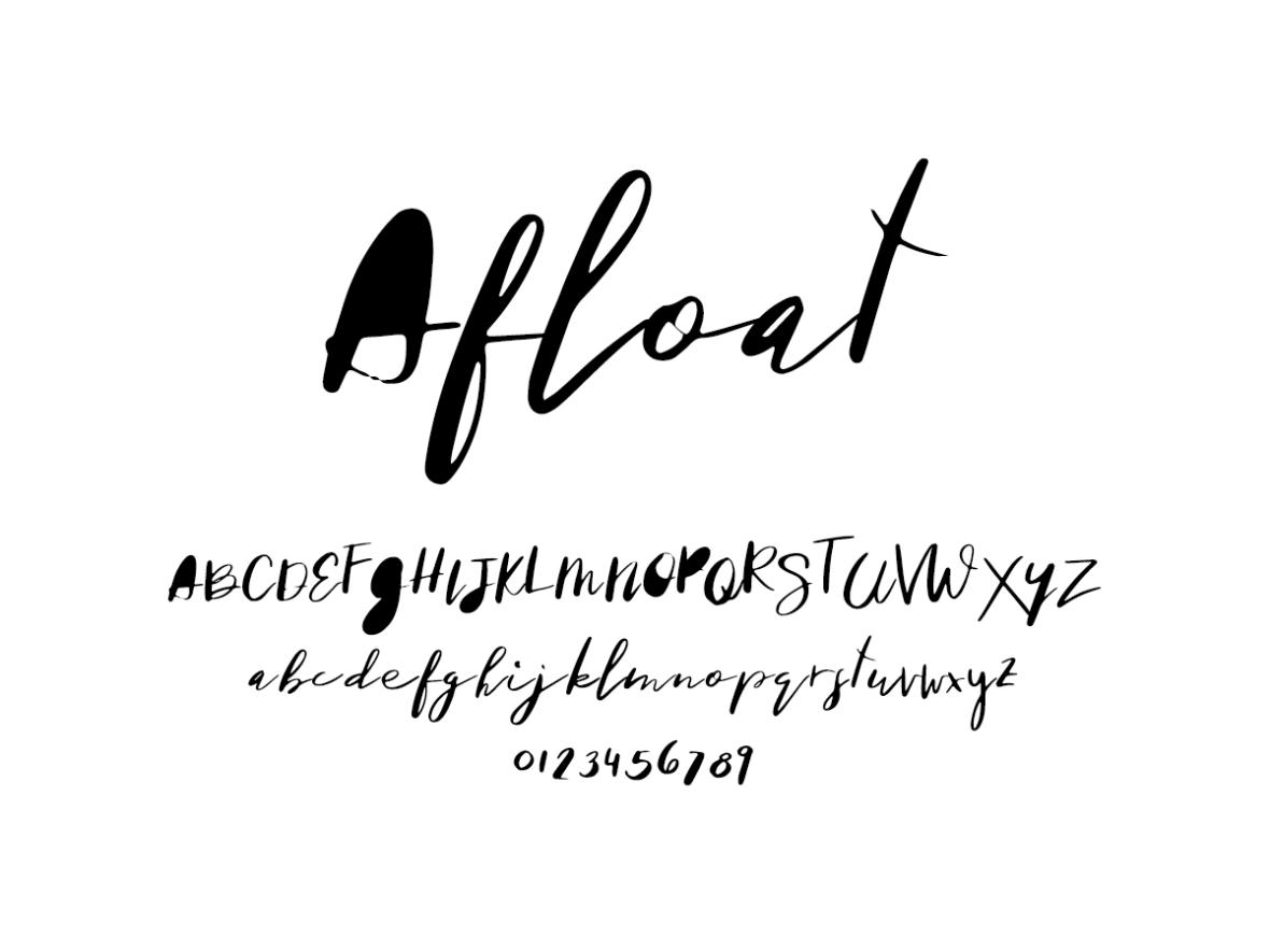 Mix Afloat - Handwritten Fonts by Mikko Sumulong