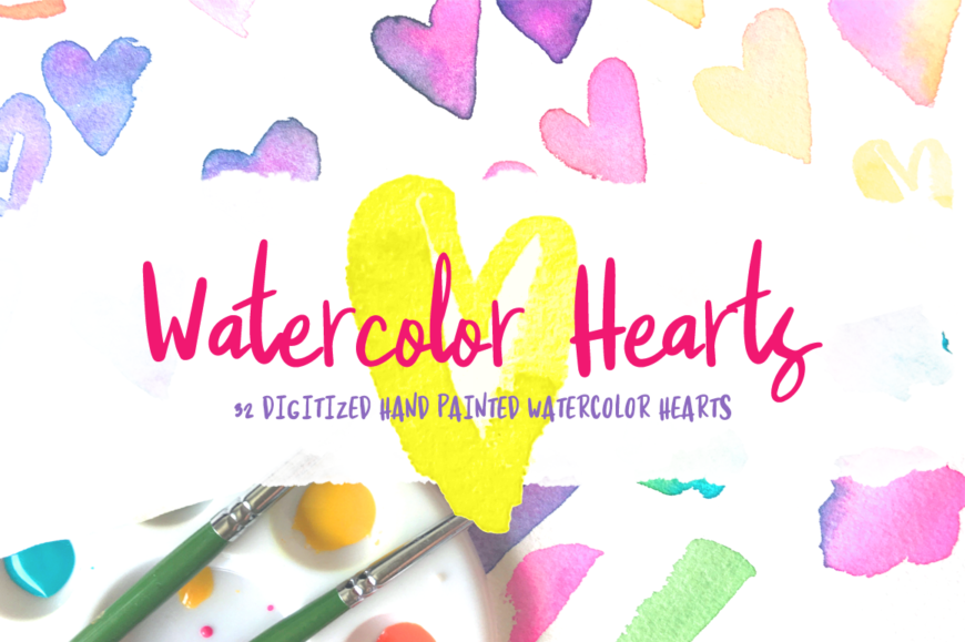 Watercolored Hearts | Painted by Mikko Sumulong