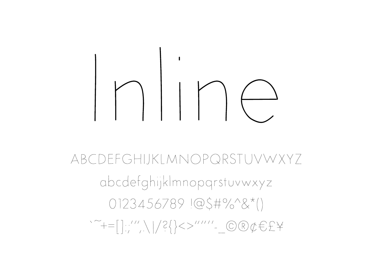 Mix Inline - Handwritten Fonts by Mikko Sumulong