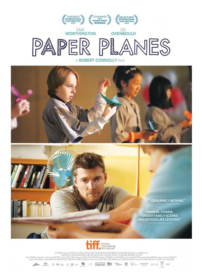 Mix Striped and Mix Modern Solid on Paper Planes Movie Poster