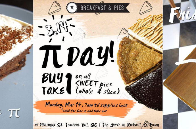 Mix Kitsch on Social Media and Signages for Pi Breakfast and Pies