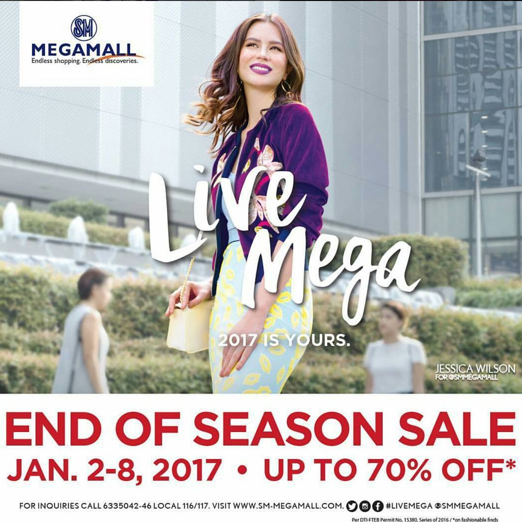 Mix Fickle on SM Megamall's End of Season Sale Instagram Post