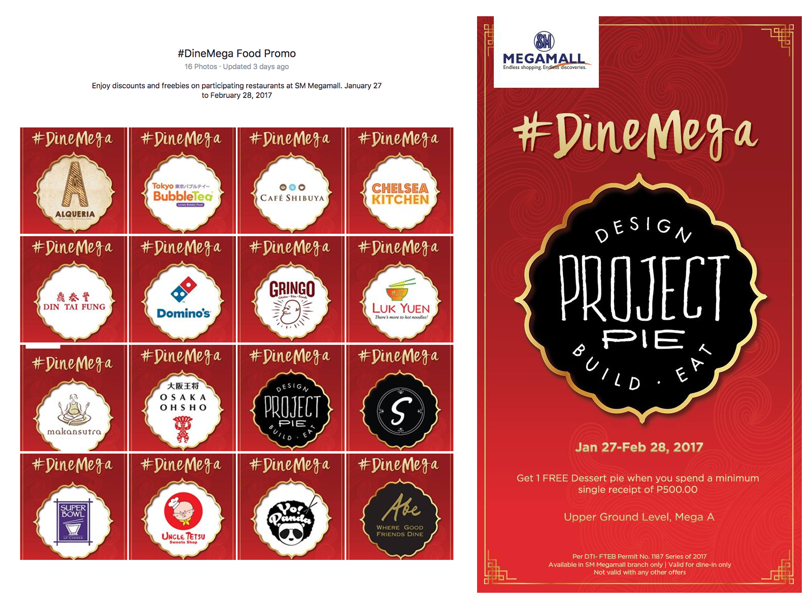 Mix Fickle on SM Megamall's #DineMega Food Promo Campaign