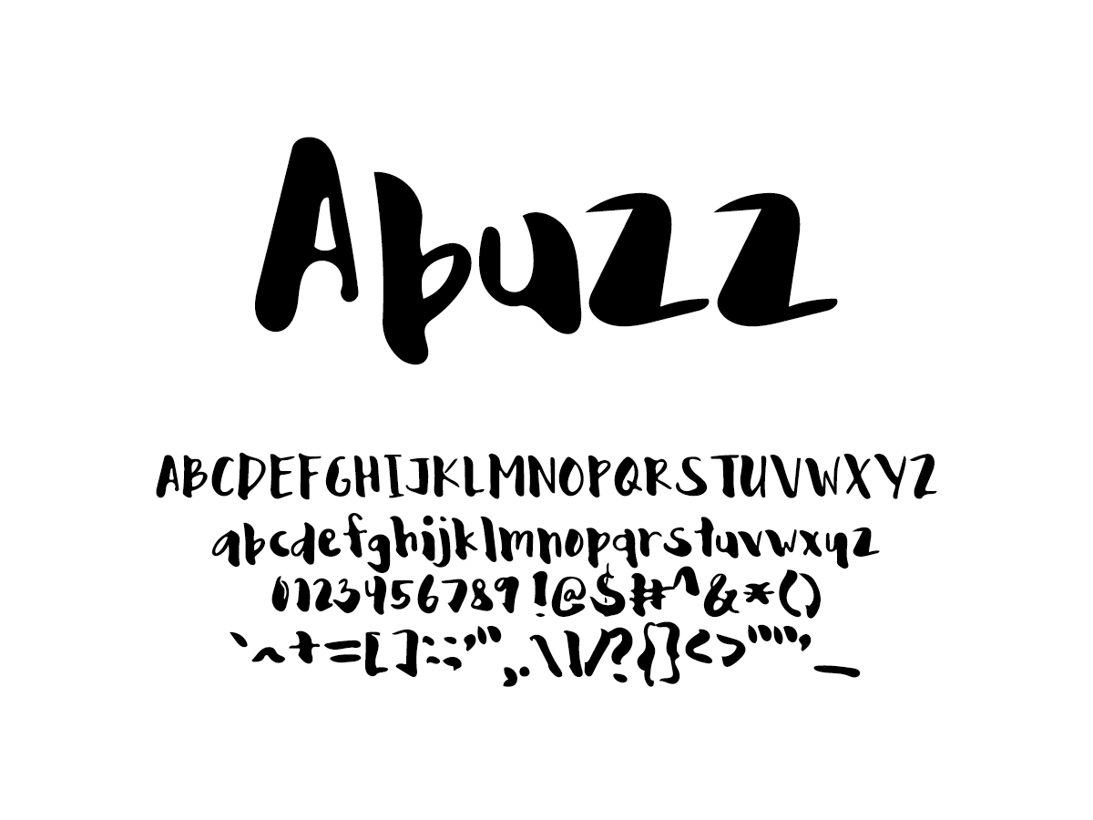 Mix Abuzz - Handwritten Fonts by Mikko Sumulong