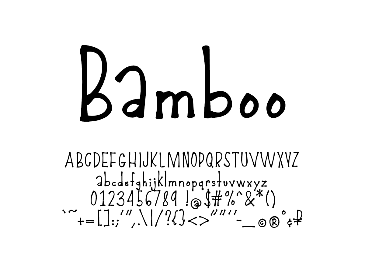 Mix Bamboo - Handwritten Fonts by Mikko Sumulong