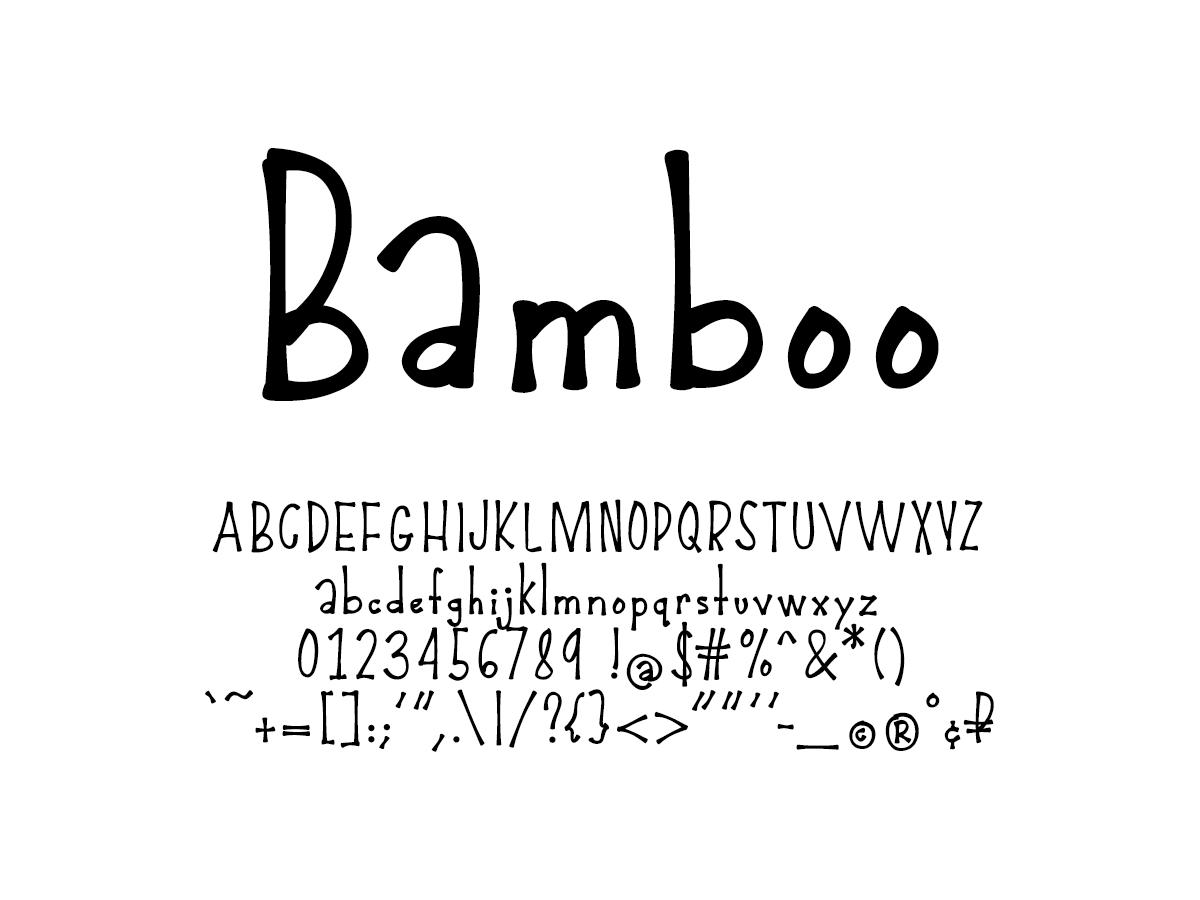 Mix Bamboo - Handwritten Fonts by Mikko Sumulong