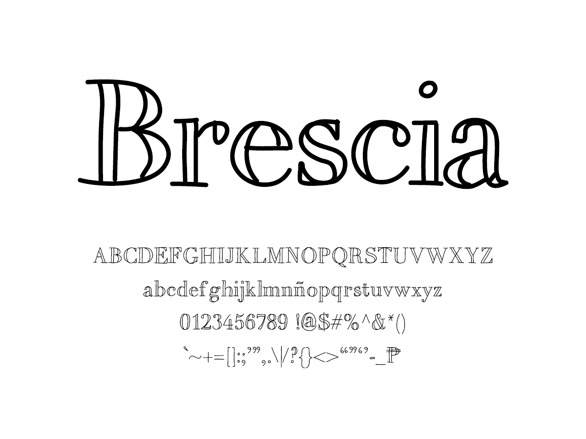 Mix Brescia - Handwritten Fonts by Mikko Sumulong