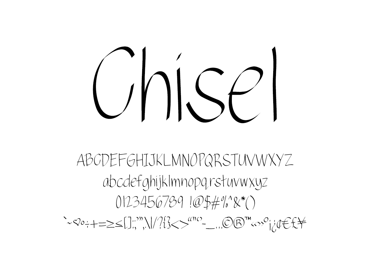 Mix Chisel - Handwritten Fonts by Mikko Sumulong