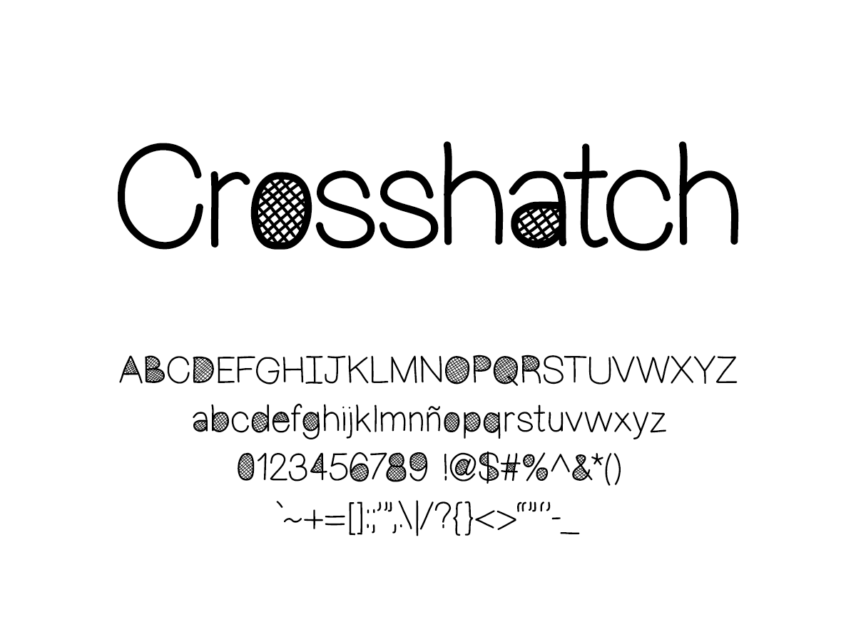 Mix Crosshatch - Handwritten Fonts by Mikko Sumulong