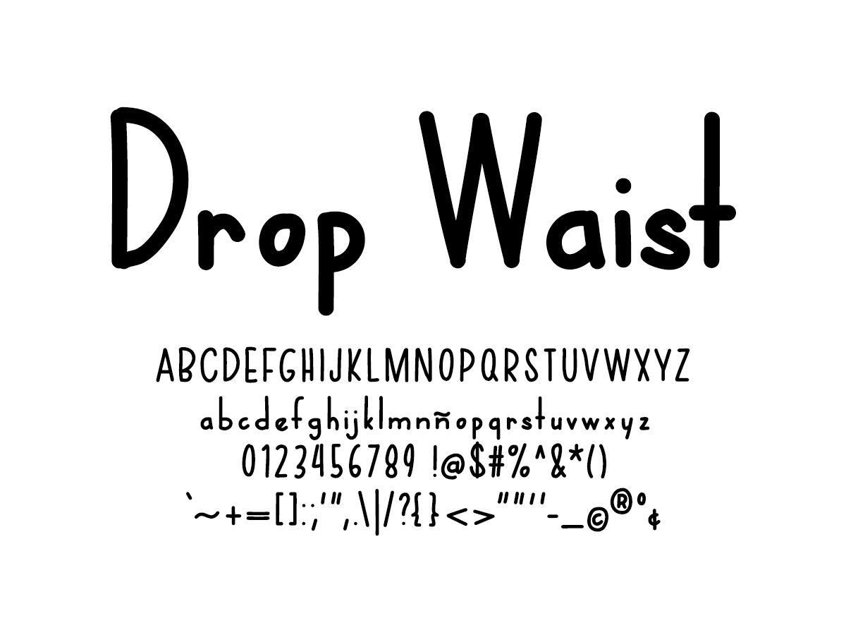 Mix Drop Waist - Handwritten Fonts by Mikko Sumulong