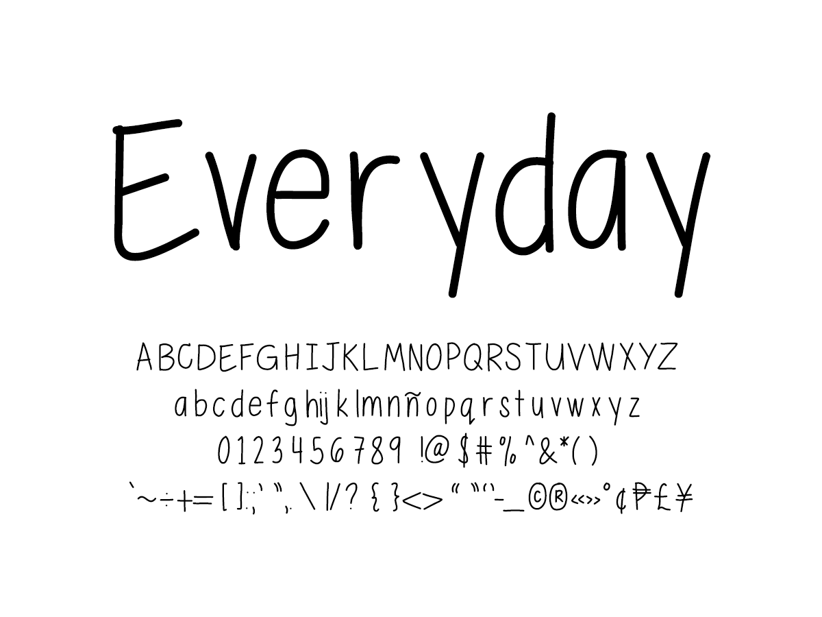 Mix Everyday - Handwritten Fonts by Mikko Sumulong