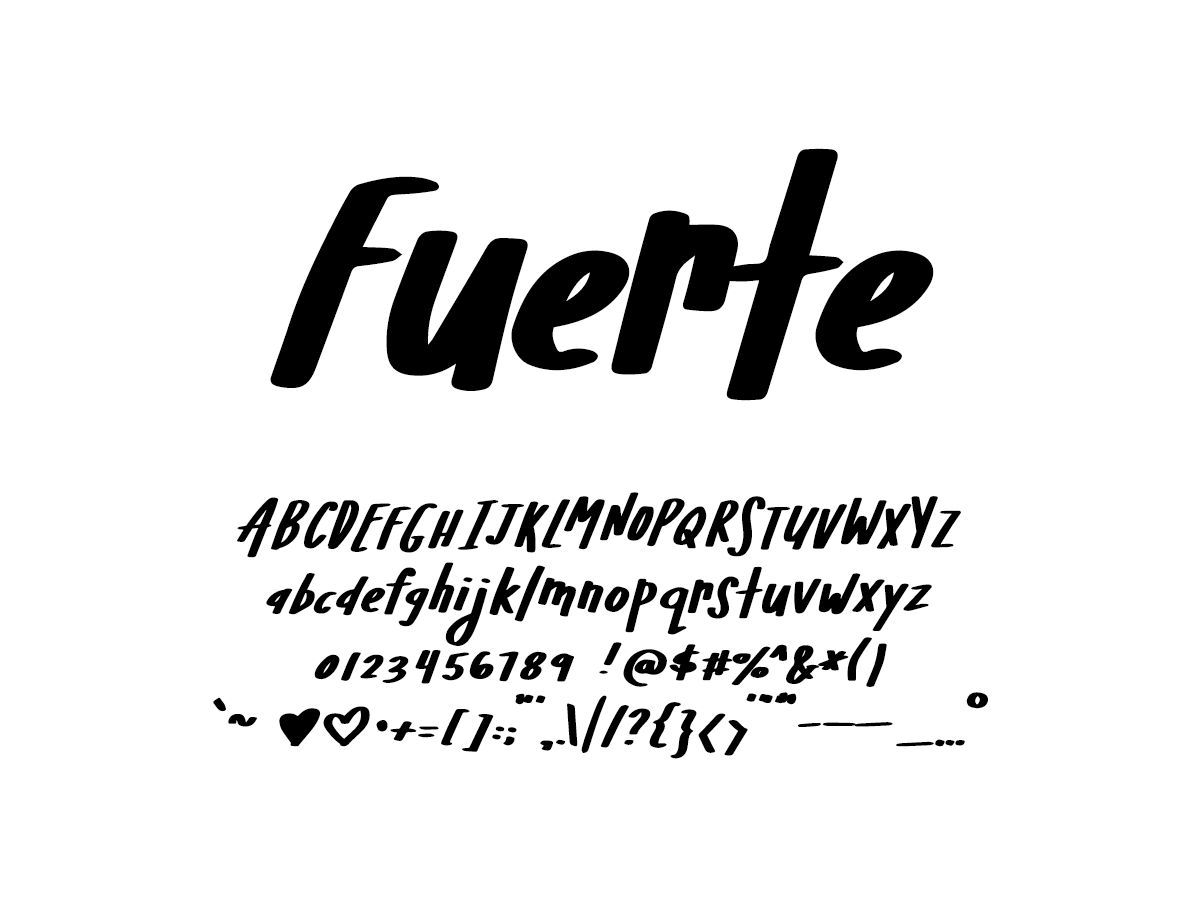 Mix Fuerte - Handwritten Fonts by Mikko Sumulong
