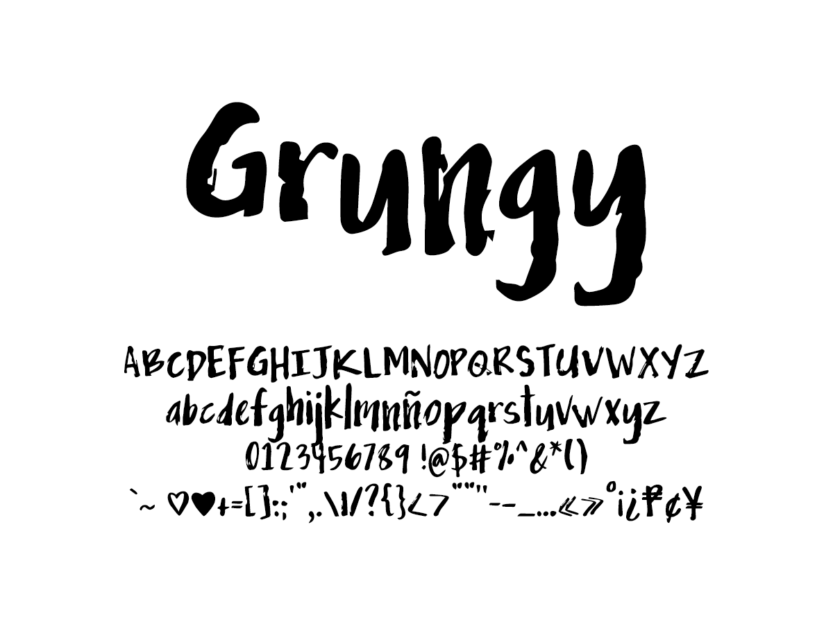 Mix Grungy - Handwritten Fonts by Mikko Sumulong