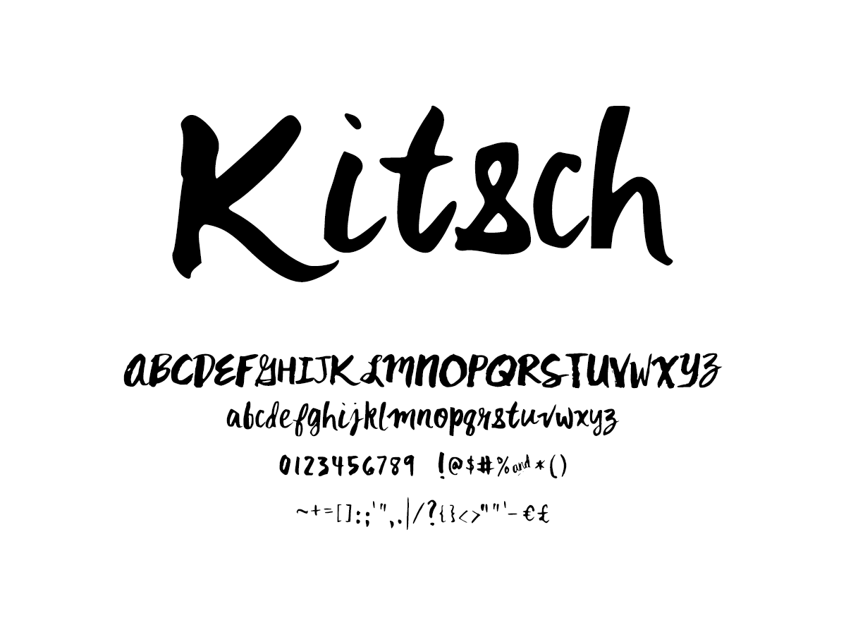 Mix Kitsch - Handwritten Fonts by Mikko Sumulong