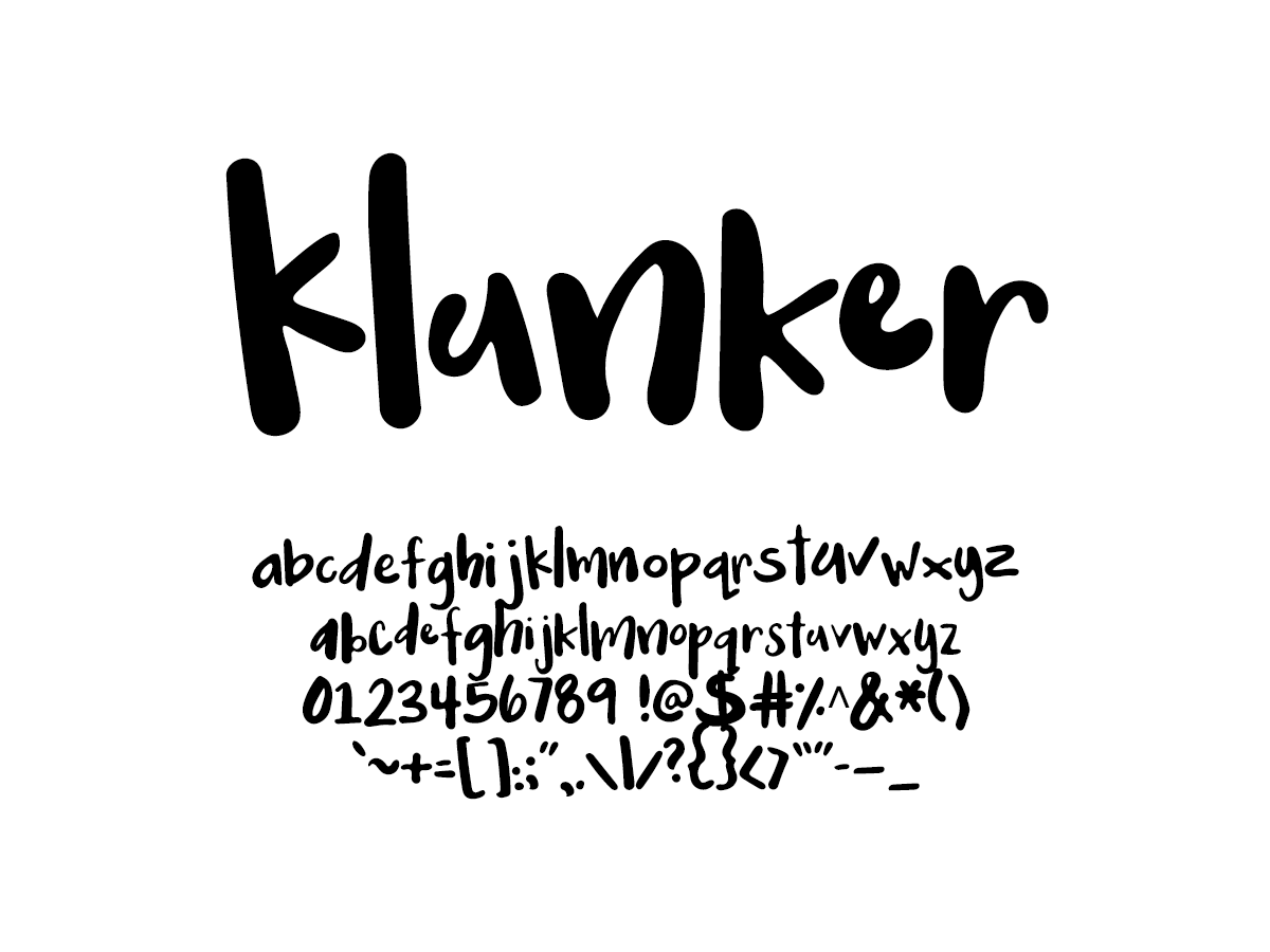 Mix Klunker - Handwritten Fonts by Mikko Sumulong