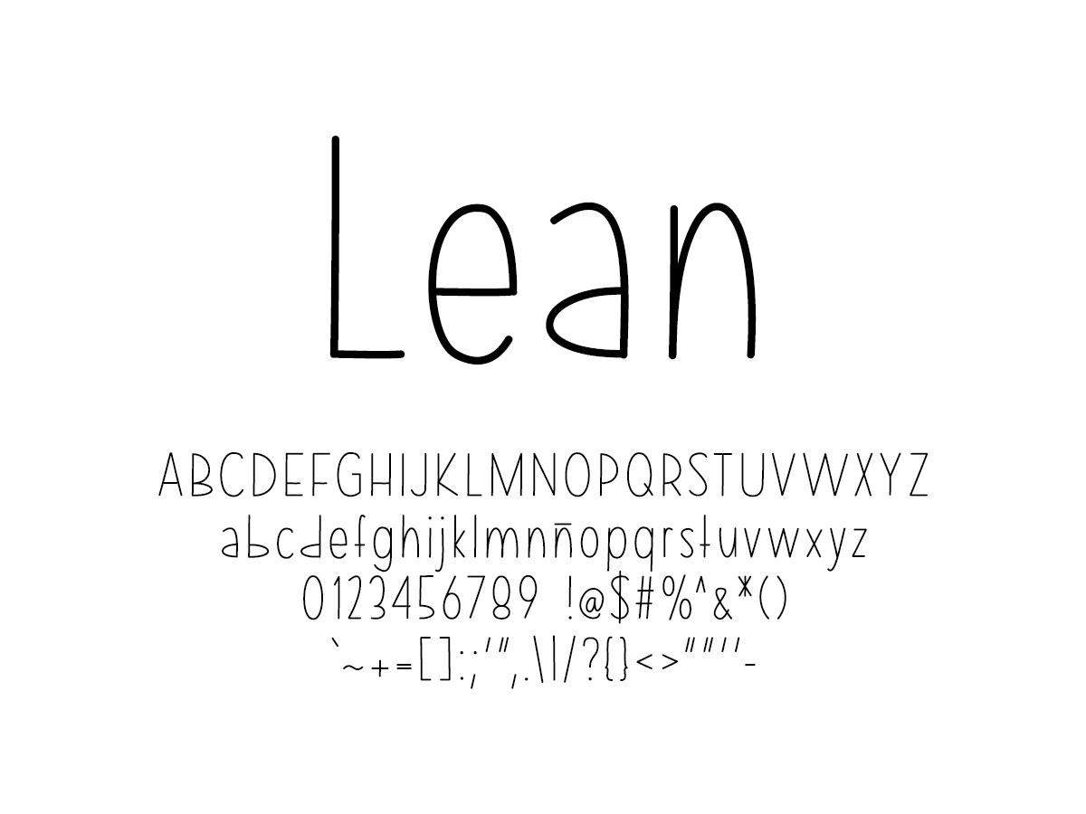 Mix Lean - Handwritten Fonts by Mikko Sumulong