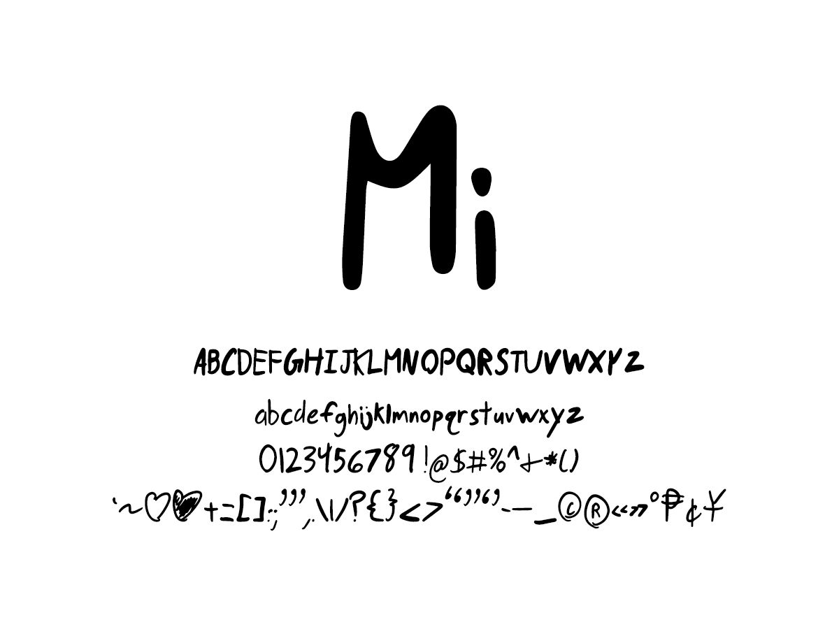 Mix Mi - Handwritten Fonts by Mikko Sumulong