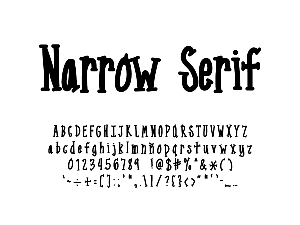 Mix Narrow Serif - Handwritten Fonts by Mikko Sumulong